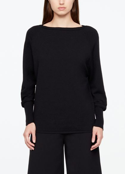 Sarah Pacini FINE WOOL SWEATER - BOATNECK