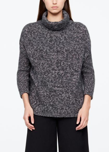 Sarah Pacini CHINÉ SWEATER - RIBBED DETAILS