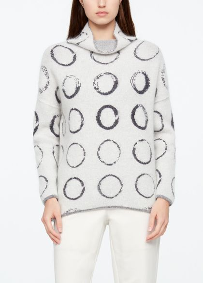 Sarah Pacini LONG SWEATER - CIRCLE MOTIF