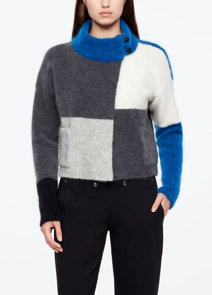 Sarah Pacini CARDIGAN COURT - COLOR BLOCK