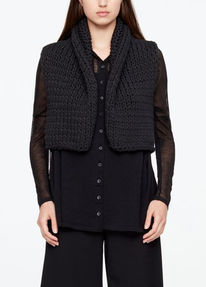 Sarah Pacini COTTON CARDIGAN - SLEEVELESS