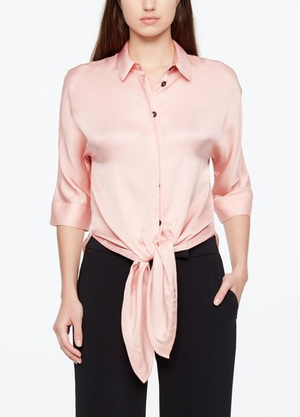 Sarah Pacini SHIRT - SATIN FEEL