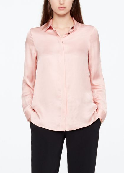 Sarah Pacini LONG SHIRT - SATIN EFFEKT
