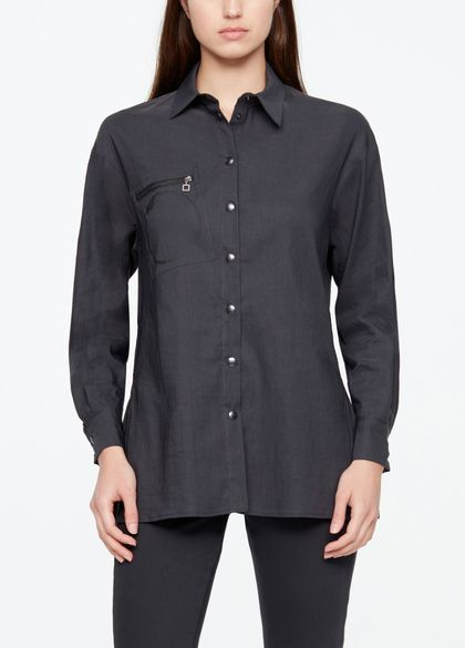 Sarah Pacini LONG SHIRT - STRETCHLEINEN