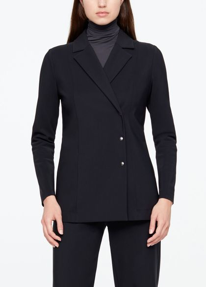 Sarah Pacini LONG JACKET - TECHNO FABRIC