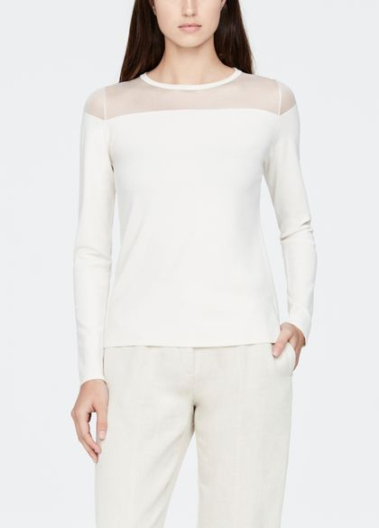 Sarah Pacini Light sweater - sheer details