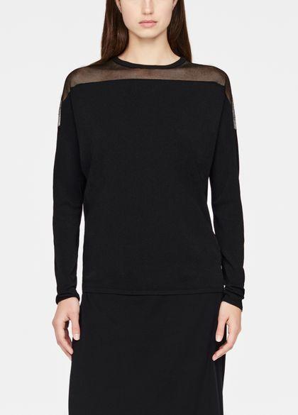 Sarah Pacini Round-neck sweater - sheer details