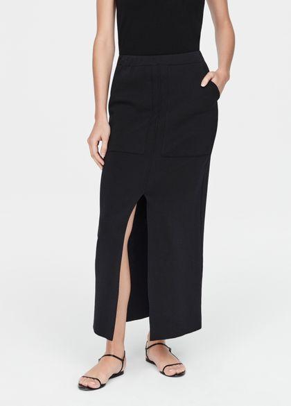 Sarah Pacini Jupe mako coton - fente