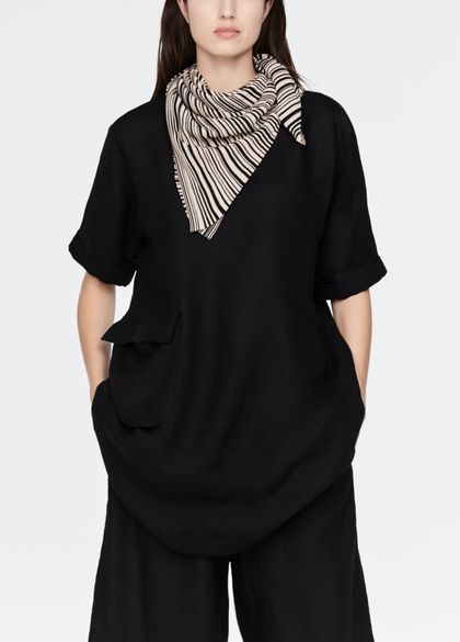 Sarah Pacini Mako cotton scarf - stripes