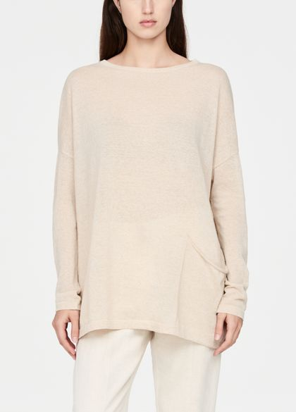 Sarah Pacini Linen cotton sweater - pocket