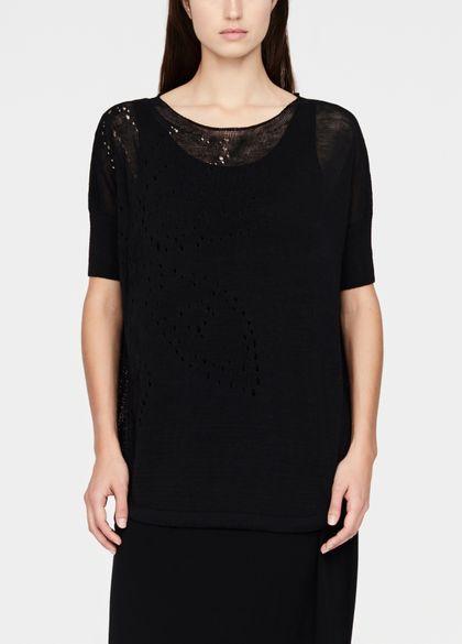 Sarah Pacini Linen sweater - drawstring