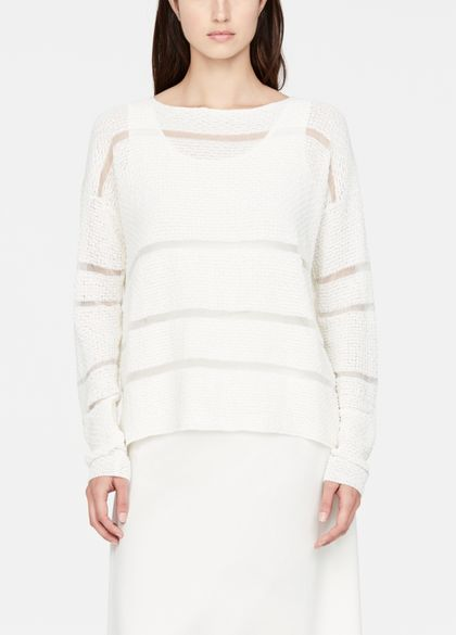 Sarah Pacini Linen sweater - star-stitch