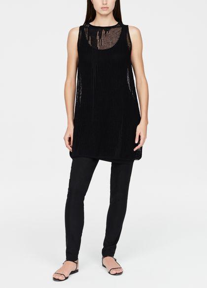 Sarah Pacini Linen dress - perforated