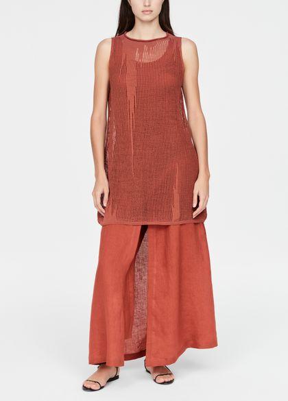 Sarah Pacini Leinenkleid - Perforiert