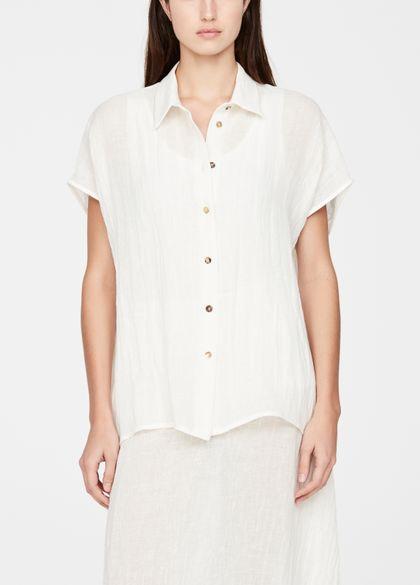Sarah Pacini Linen shirt - rustic weave