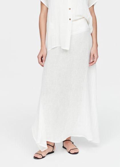 Sarah Pacini linnen rok - ruw weefsel
