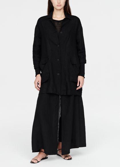 Sarah Pacini Linen jacket - pouch pockets