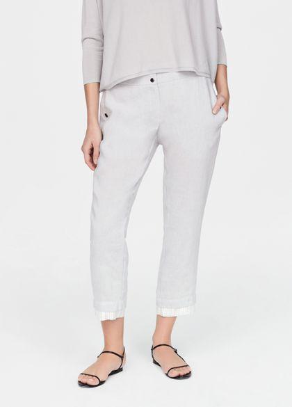 Sarah Pacini Pantalon en lin - rayures