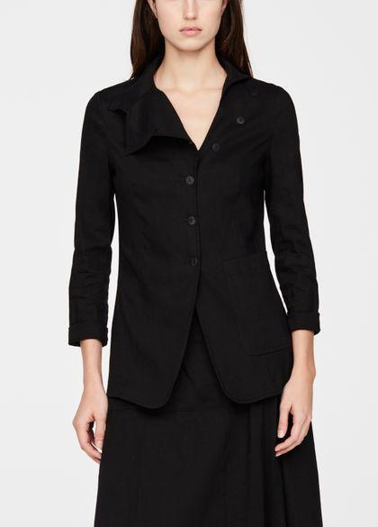 Sarah Pacini Linen jacket - asymmetric