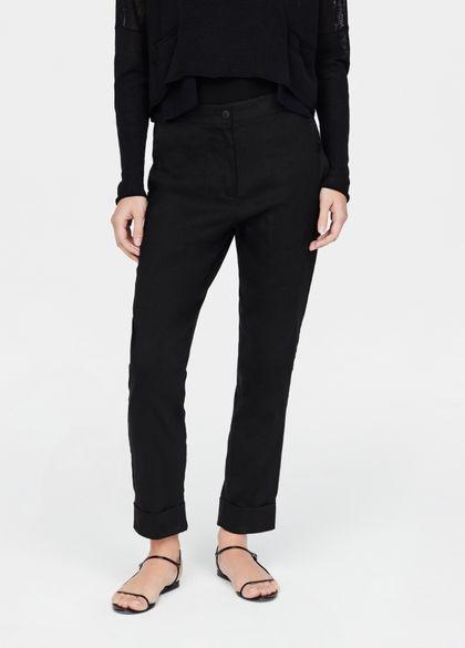 Sarah Pacini Pantalon en lin - revers