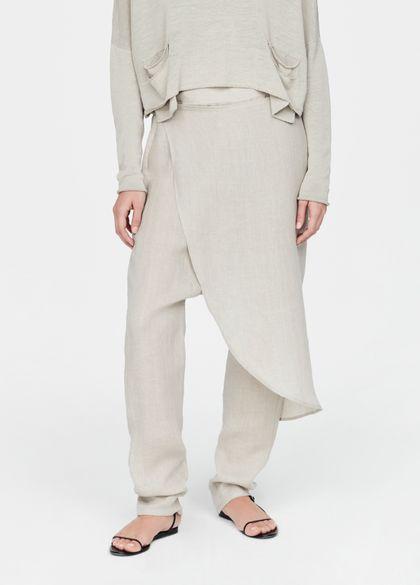 Sarah Pacini Linen sarouel pants