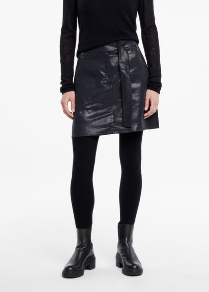 Sarah Pacini Jupe courte - effet cuir