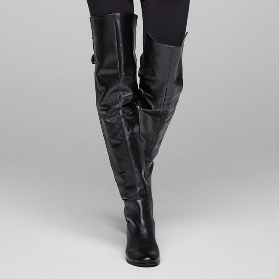 Sarah Pacini Suede thigh boots