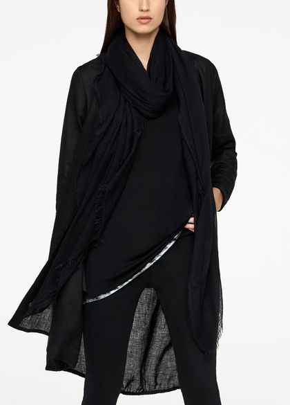 Sarah Pacini Shawl scarf - frayed edges