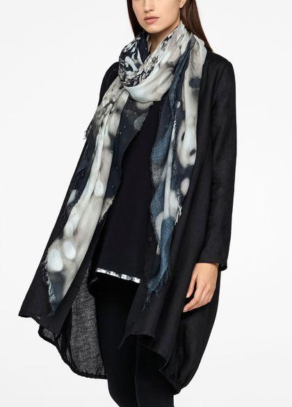 Sarah Pacini Brilliant scarf - frayed edges