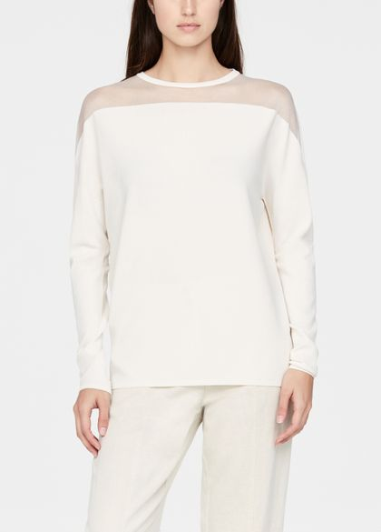 Sarah Pacini Round-neck sweater - sheer details