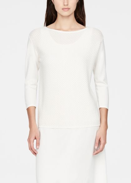 Sarah Pacini Mosaic sweater - ¾ sleeves