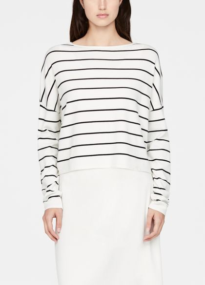 Sarah Pacini Short sweater - stripes