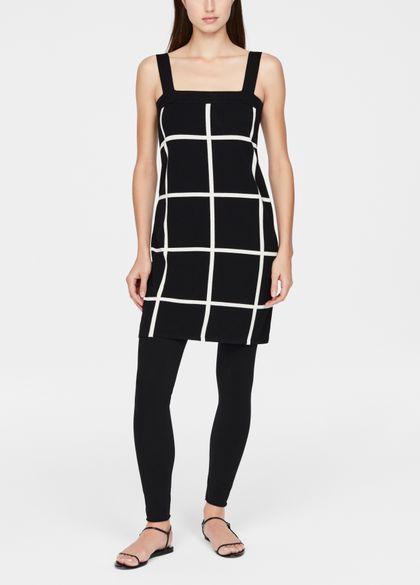 Sarah Pacini Lichte jurk - ruitmotief