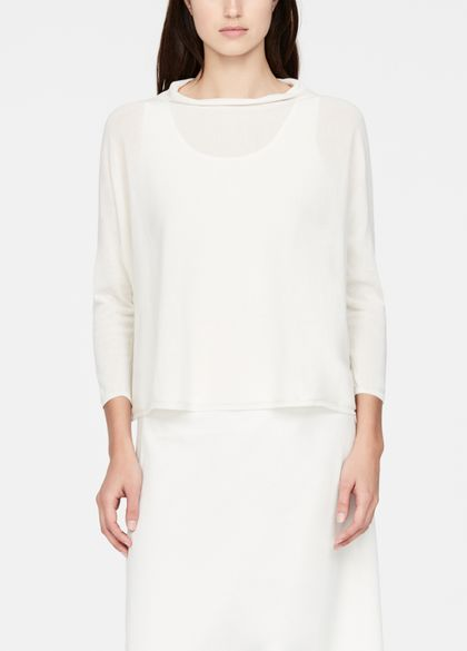 Sarah Pacini Mako cotton sweater - ¾ sleeves