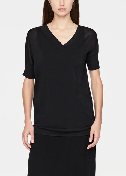 Sarah Pacini Mako cotton sweater - short sleeves