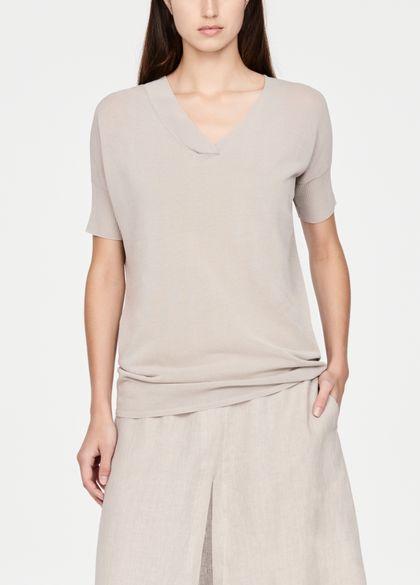 Sarah Pacini Pull coton mako - manches courtes
