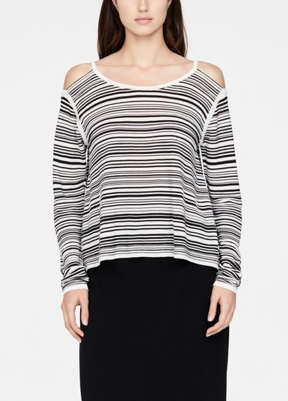 Sarah Pacini Light sweater - cut-out details