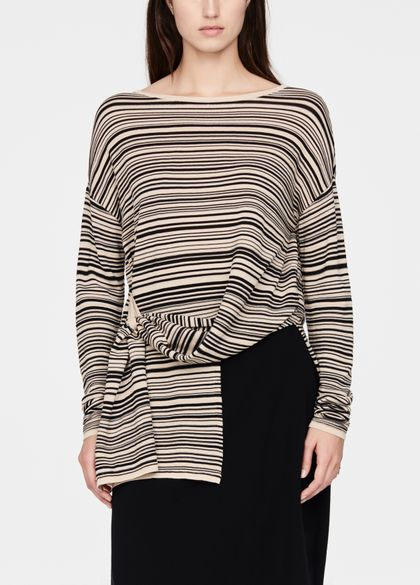 Sarah Pacini Asymmetric sweater - stripes