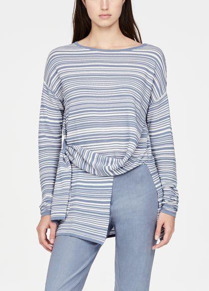 Sarah Pacini Asymmetrische trui - gestreept