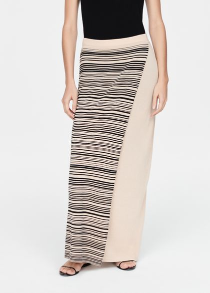 Sarah Pacini Panel skirt - stripes