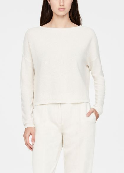 Sarah Pacini Cropped sweater - perforations