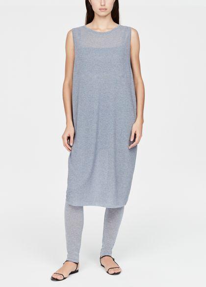 Sarah Pacini Mouwloze jurk - geperforeerd