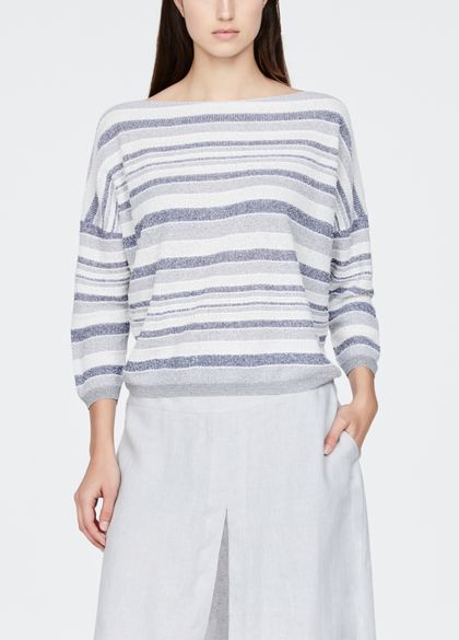 Sarah Pacini Full sleeve sweater - faded stripes