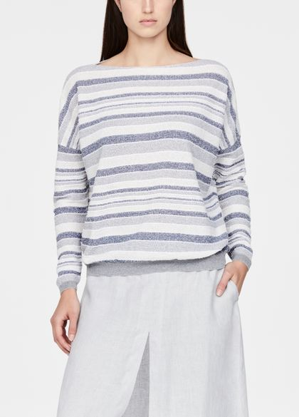 Sarah Pacini Casual sweater - faded stripes