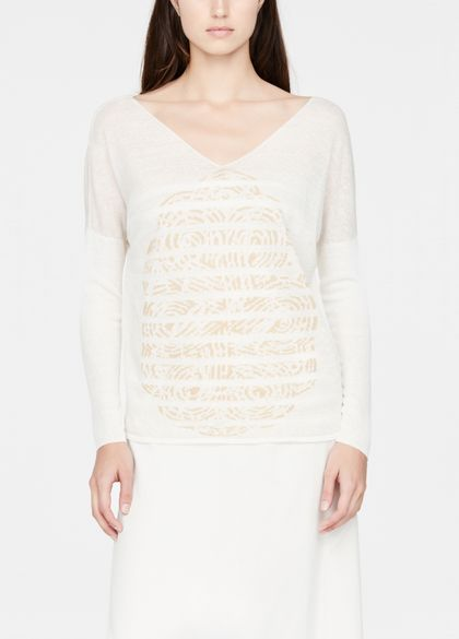 Sarah Pacini Linen sweater - full sleeves