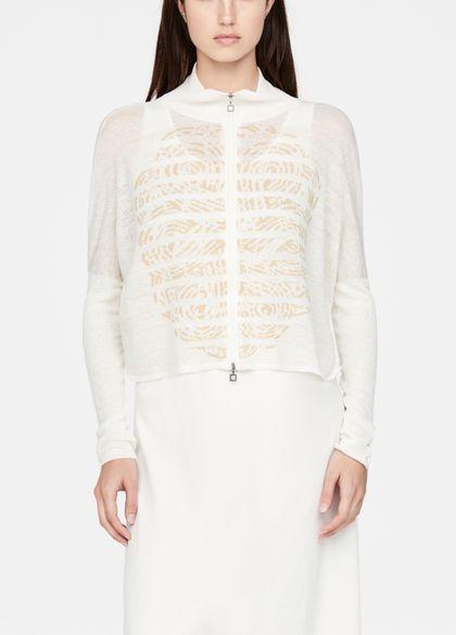 Sarah Pacini Linen cardigan - cropped