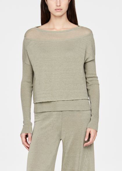 Sarah Pacini Linen sweater - layered