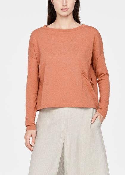 Sarah Pacini Linen-cotton sweater - cropped