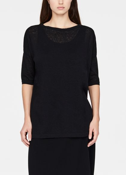 Sarah Pacini Linen-cotton sweater