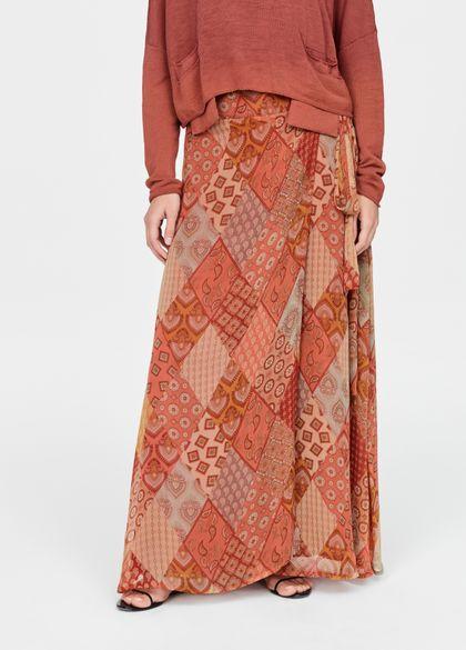 Sarah Pacini Wrap skirt - patchwork
